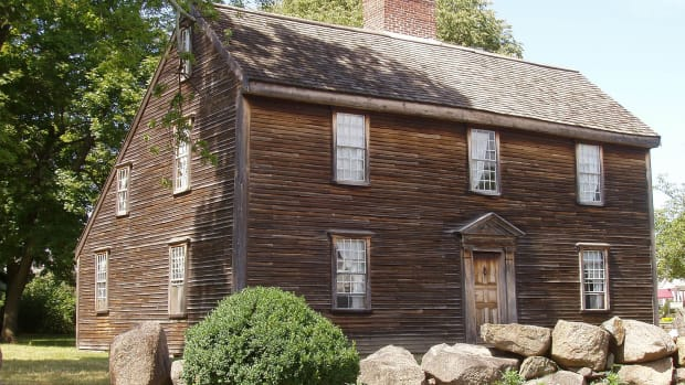 John Adam's saltbox house in Massachusetts