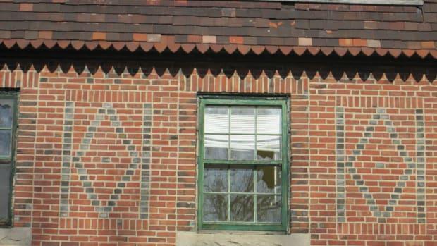 window with brick arch