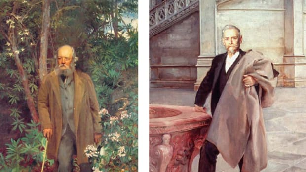 John Singer Sargent's portraits of Frederick Law Olmsted (left) and Richard Morris Hunt (right) in the Biltmore House