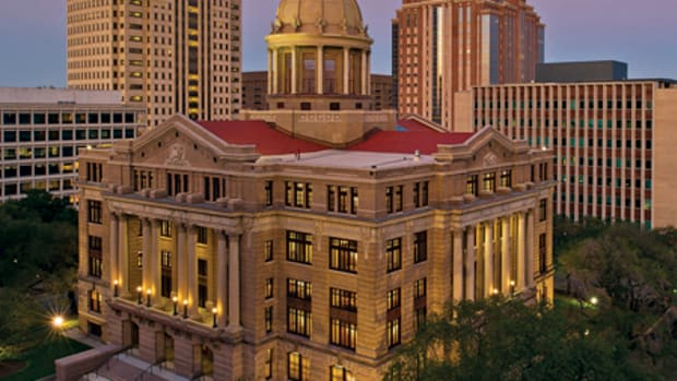 ARCHITEXAS was the preservation architect for the restoration of the 1910 Beaux-Arts Harris County Courthouse in Houston, TX. The $52-million, seven-year project included both the exterior and interior of the building. All photos: Nash Baker, Houston, TX