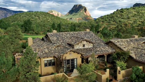 Ludowici's Spanish tile with the Spanish/Barrel Eave Conversion in a custom color blend was used for the Seven Canyons Resort in Arizona. Photo: Ludowici Roof Tile