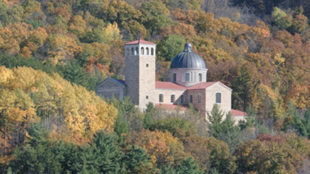 Completed earlier this year after a seven-year effort, Our Lady of Guadalupe is situated on a 70-acre site in the hills of Wisconsin. River Architects of La Crosse, WI, worked with Duncan G. Stroik Architect of South Bend, IN, to create this new shrine.