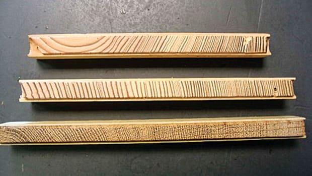 oak and pine core samples