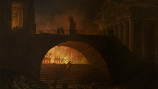 The Fire of Rome, Hubert Robert