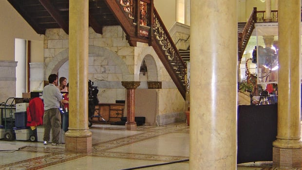 Scagliola in Toronto's Romanesque Old City Hall