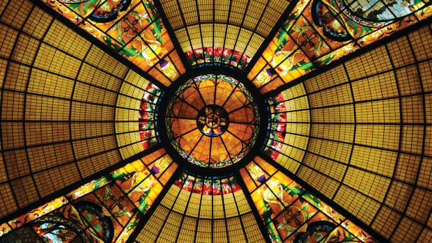 stained glass dome