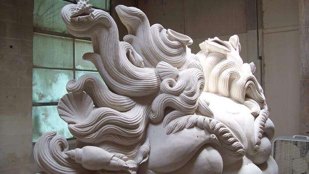 Detail: Titan Head piece by Fairplay Stonecarvers. Photo: courtesy of Fairplay Stonecarvers