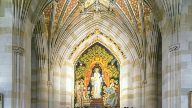 library's Alma Mater mural