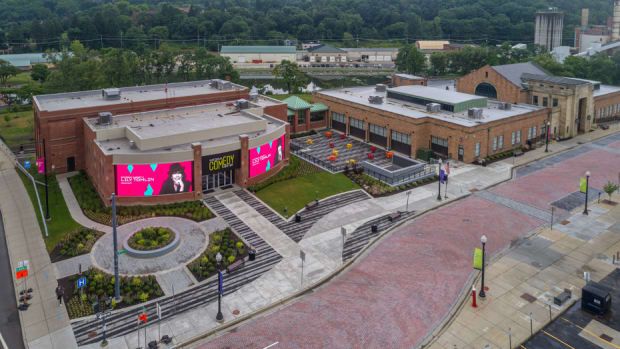 Exterior of the National Comedy Center campus