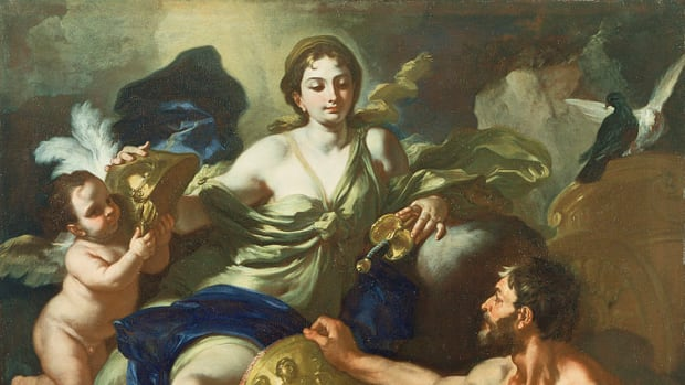 Francesco Solimena - Venus at the Forge of Vulcan, 1704