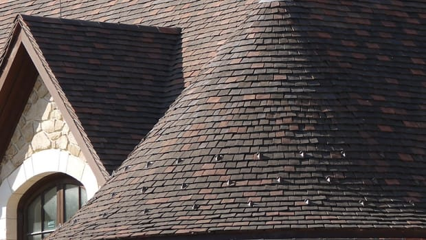 12 Northern Roof Tiles Custom English shingle tiles made for round hips and turrets