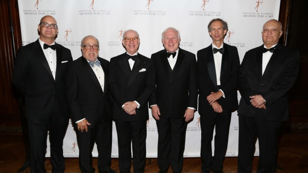 2021 Arthur Ross Awards Honorees Adrian Taylor, Edmund Hollander, Andrew Skurman, John F. W. Rogers, Charles Miers, and Michael Lykoudis, FAIA