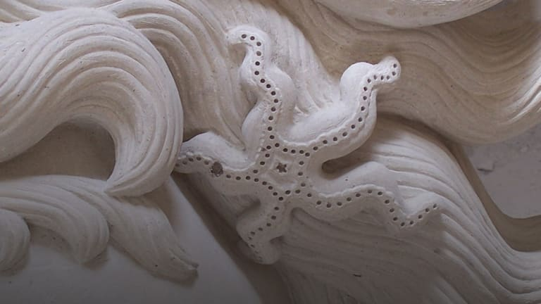 Hand-Carved Stone Mantels