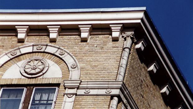 Architectural Fiberglass Corp. replicated the cornices on this New York City apartment building using fiberglass.