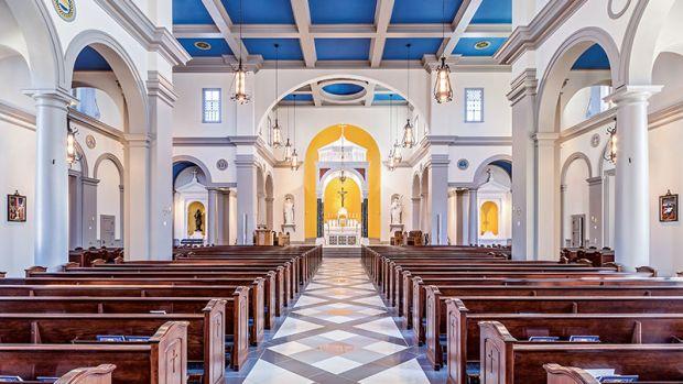 new Romanesque Roman Catholic Church