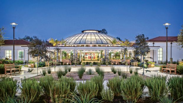 open-air Garden Court at The Huntington