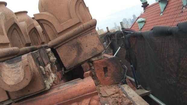 montauk club chimney restoration
