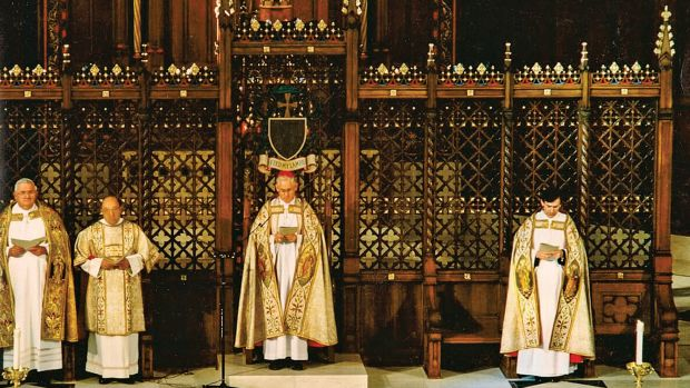 Agrell Architectural Carving was commissioned by Beyer Blinder Belle Architects to provide a new chancel screen, furniture, tabernacle, confessionals and restoration work for the Cathedral of the Madeleine in Salt Lake City, UT.