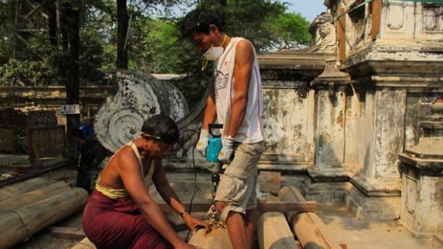 working in Mandalay