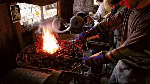 Blacksmithing is also taught at Clatsop Community College.