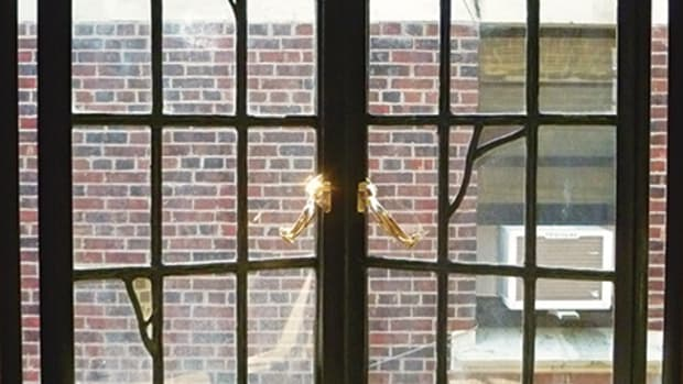 historic steel casement window