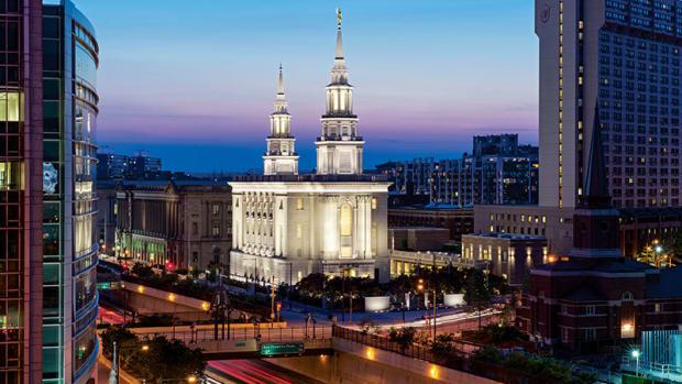 Neoclassical Revival Mormon Temple