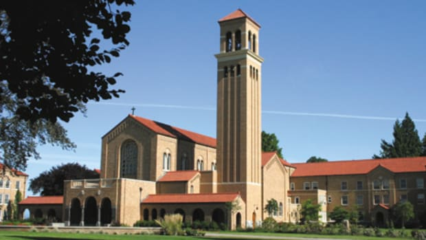 A peal of eight cast-bronze bells housed in the 110-ft.-tall Tower of the Visitation, designed by Portland, OR-based Soderstrom Architects, is now the central icon of Mount Angel Abbey in St. Benedict, OR. All photos: courtesy of Soderstrom Architects unless otherwise noted