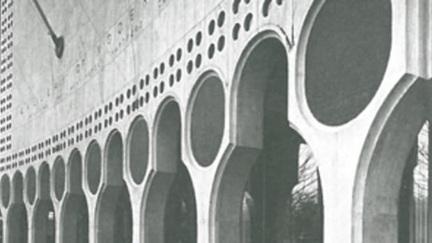 """Edward Durell Stone designed this 1964 museum in New York City to display the art collection of Huntington Hartford, the A&P supermarket heir. The building had Venetian motifs throughout, especially the fanciful support columns at the base. Architectural critics hated Stone's playful departure from rigid Modernism and derisively nicknamed it """"The Lollipop Building."""""""