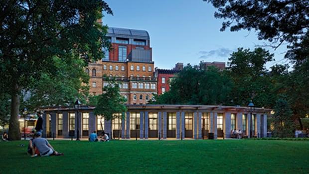 BKSK Architects' Park House in Washington Square Park