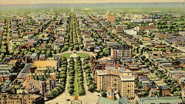 Monument Avenue and Lee Monument, Richmond, Va.