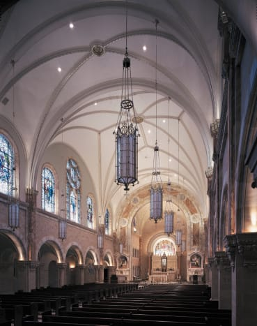 Conrad Schmitt Studios has provided decorative painting for The Basilica of Holy Hill, National Shrine of Mary, Help of Christians, in Hubertus, WI, since the current shrine was built in 1926.