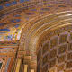 Canning Studios executed the elaborate decorative-painting scheme at the Rodeph Shalom Synagogue in Philadelphia, PA.