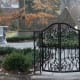 This intricately forged garden gate for the prestigious Winterthur Museum was recreated from a 70-year old photo by the skilled artisans at Heritage Metalworks.