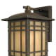 This exterior light fixture, part of the Hillcrest collection, is from House of Antique Hardware; shown here in Imperial Bronze.