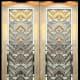 Wiemann Metalcraft fabricated these bronze Art Deco door panels.