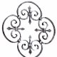 King Architectural Metals distributes a wide selection of decorative ironwork, such as this wrought-iron rosette, which measures 235/8 in. across.