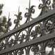 This detail of a large wrought-iron gate shows the artistry of Wiemann Metalcraft.