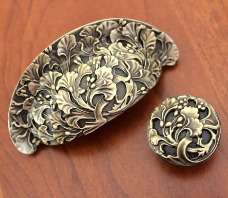 1 Florid Leaves in Antique Brass Finish NHBP-802, NHK-102 nottinghill-us...