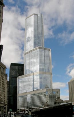 9 Trump Chicago from Mich Ave