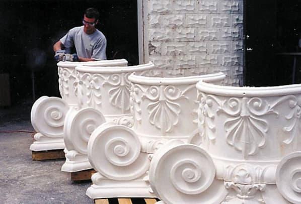 Buffalo Plaster ColumnCapitals