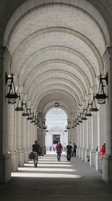 11. Arcade flanking entrance Union Station