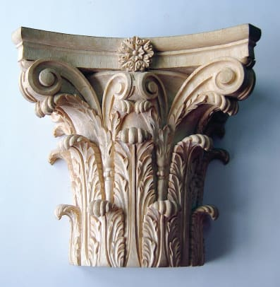 Corinthian Capital - hand carved by Agrell Architectural Carving
