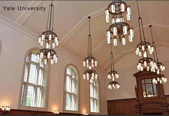 Steven Handelman Yale cafeteria chandleiers
