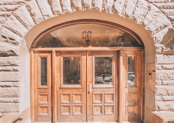11_ s oxford roanoke apartements front entrance replacement doors historic reproduction arched fort greene brooklyn nyc