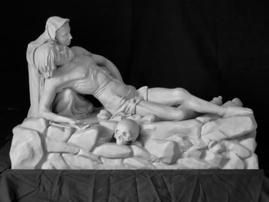 andrew wilson smith sculpture studio 04-lamentation, 2018