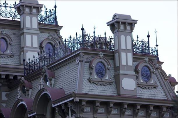Allen Arch, Roof, Stanford Mansion, Calif.