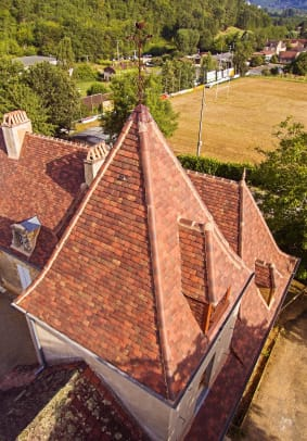 1 Northern Roof Tiles From France Huguenot 20x30 shingle tile