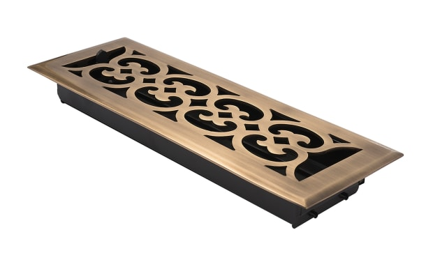 Brass Accents Floor Register