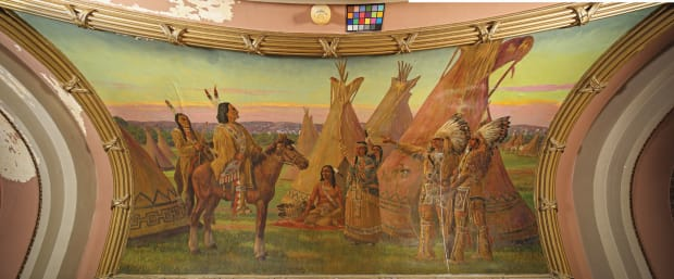 Restoration of Historic Murals in Omaha's Douglas County Courthouse