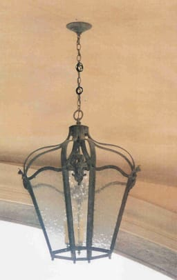 lantern Masters Alice Medium Wide Pendant with Cast Fleur De Lis